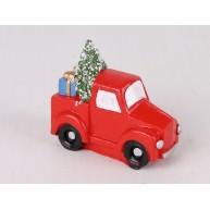 Kerámia polirezin teherautó fenyőfával karácsonyi dekoráció 468371