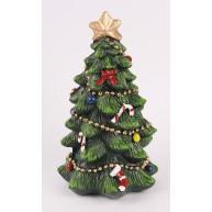 Kerámia karácsonyi dekoráció díszített karácsonyfa 14cm 468696