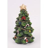 Kerámia karácsonyi dekoráció díszített karácsonyfa 11cm 468697