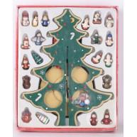 Fa karácsonyfa talppal,díszekkel , zöld 729561