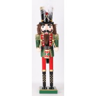 Diótörő katona, zöld, glitteres , tollas kucsmával  729531