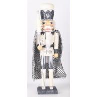 Fa Diótörő figura, fehér és ezüst színű  729529