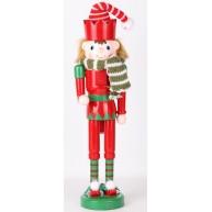 Fa Diótörő manó karácsonyi figura, sállal a nyakában 729528