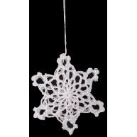 Csipke karácsonyfadísz, 3D hópihe 671581