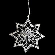 Csipke karácsonyfadísz, csillag harangokkal  671513