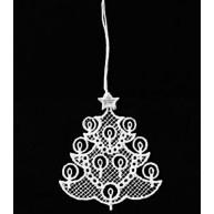 Csipke karácsonyfadísz, karácsonyfa gyertyákkal  671511