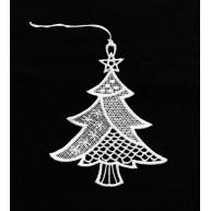 Csipke karácsonyfadísz, karácsonyfa csillagokkal  671510