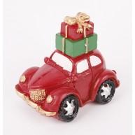 Kerámia polirezin autó csomagokkal a tetején karácsonyi dekoráció 469959