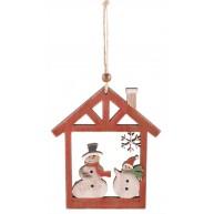 Karácsonyi ajtódísz dekoráció hóemberes 481461
