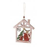 Karácsonyi fa ajtódísz dekoráció rénszarvasos natúr 481462