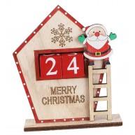 Karácsonyi adventi naptár dekoráció hóemberrel a létrán 481466