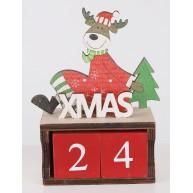 Karácsonyi adventi naptár rénszarvasos Xmas felirattal 481467