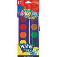 Colorino Kids vízfesték, 12 színű, színkorong átmérő: 30 mm 14014