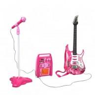 Lányos játék elektromos gitár, erősítő és mikrofon 4709