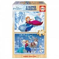 Educa Disney Jégvarázs fa puzzle, 2x50 darabos II. 16802