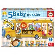 Educa Iskolabusz bébi puzzle, 5 az 1-ben 17575