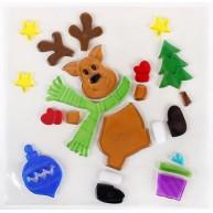 Karácsonyi ablakzselé dísz rénszarvas 312594