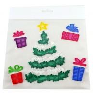 Zselés ablakdísz - karácsonyfa ajándékokkal 312619