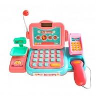 Lányos pénztárgép scannerrel, kártyaolvasóval, mérleggel, számológéppel 9514