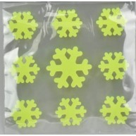 Zselés, fluoreszkáló ablakdísz - kis hópihék