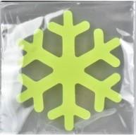 Zselés, fluoreszkáló ablakdísz - nagy hópihe
