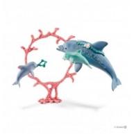 Schleich 41463 Delfin mama kicsinyeivel ugrik