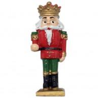 Kerámia diótörő király piros-zöld ruhában 468071