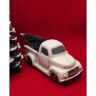 Fenyőfát szállító autó - fehér