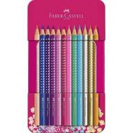 Faber Castell Sparkle színes ceruza fém dobozban - 12 db