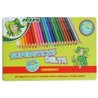 Jolly supersticks delta 24 darabos színes ceruza készlet fém dobozban