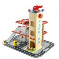 3 emeletes garázs parkolóház helikopterleszállóval, lifttel, benzinkúttal 6526