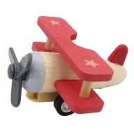 Lendkerekes mini repülő, natúr- piros színű 6200-A