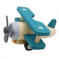 Lendkerekes mini repülő, natúr- kék színű 6200-B