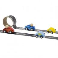 Öntapadós pálya autóknak , kék versenyautóval 6198-B