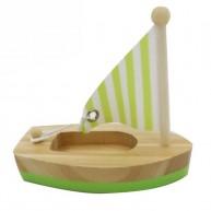 Mini vitorlás fürdőjáték ( zöld-natúr ) 6194-C