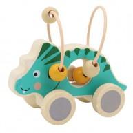 Gurulós golyóvezető, zöld triceratopsz 6189-A