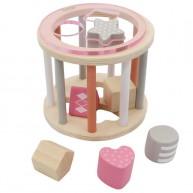 Kerek formakereső játék henger, rózsaszín 6188-A