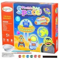 Hűtőmágnes készítő UFO-s gipszkiöntő készlet gyerekeknek  Color Day 11532