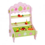 Zöldség-gyümölcs játék eladópult rózsaszín 5094