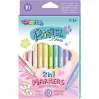Colorino Pasztell 10db-os kétoldalú pastel színű filctoll készlet