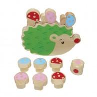 Egyansúlyozó készségfejlsztő játék süni gombákkal 5115-C