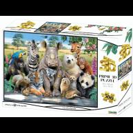 3D puzzle Állati osztálykép 500 darabos