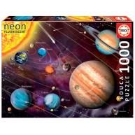 Educa Naprendszer neon fluoreszkáló puzzle, 1000 darabos