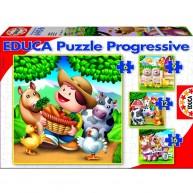Educa Tanyasi világ puzzle, 4 az 1-ben