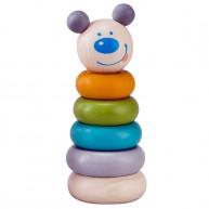 Montesszori macis toronyépítő fajáték pasztell színekben 6181-A