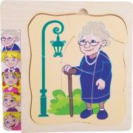 Az öregedés története, hogyan lettem Nagymama puzzle 11028