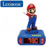 Lexibook Mario ébresztő óra éjszakai fénnyel és hangeffektekkel