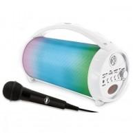 Szivárványos, világító, bluetooth hangszóró mikrofonnal