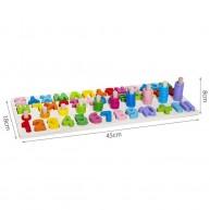Angol ABC betűi és számok tanulását segítő készségfejlesztő játék 10979