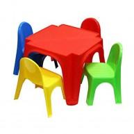 Starplast műanyag gyerek asztal négy székkel